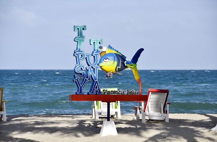 Placencia Belize beach view