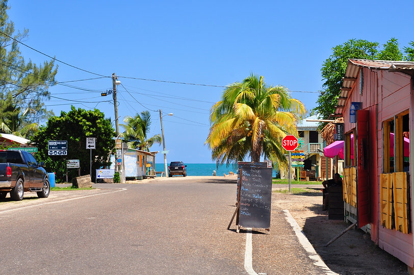 Hopkins Village entrance - Julian Shuttles Belize.jpg