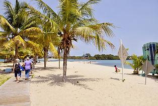 Placencia Village Beach side walk, Stann Creek District Belize