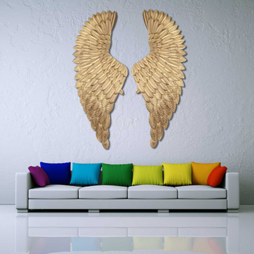 Ancient Wall Decoration Metal Angel Wings