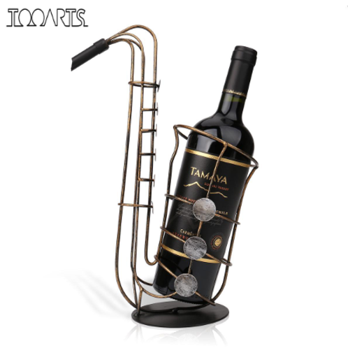 Saxophone metal wine holder ornament