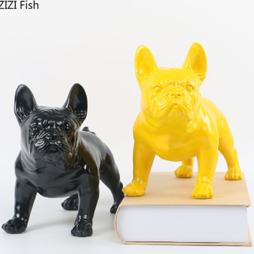 French Bulldog Animal statue with Multicolour Optional