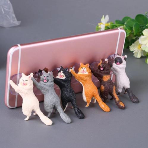 Cute kitty phone holder