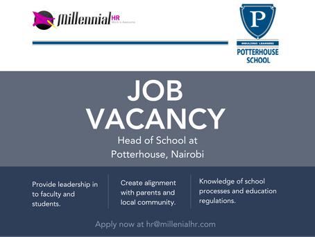 CLOSED | Job Vacancy – Head of School, Potterhouse School