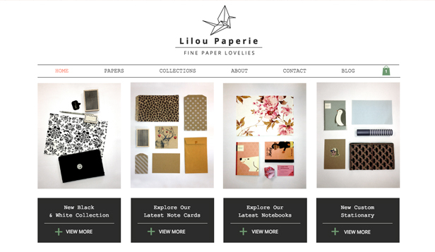 Kunst & Design website templates – Papiershop