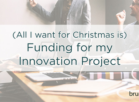 [Event] (All I want for Christmas is) Funding for my Innovation Project
