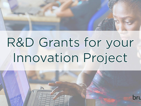 [Event] R&D grants for your innovation project - 10 Oct. 2018