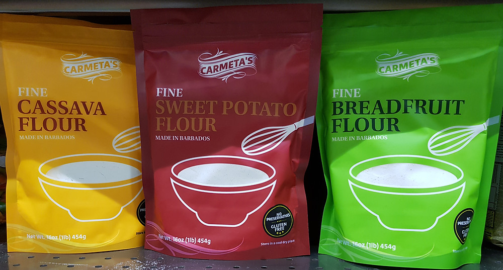 Carmeta's gluten-free flours made in Barbados