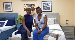 Dianne N Squires and Ashlee-Joseph Ifill of Living Bliss Barbados