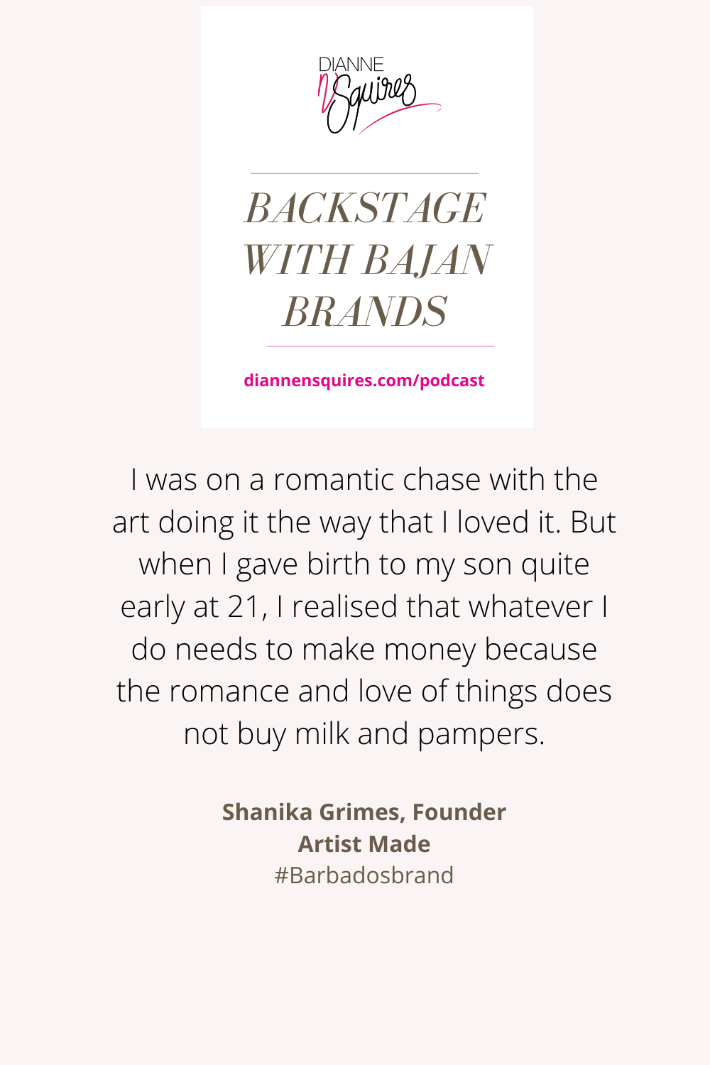 Quote from Shanika Grimes, Founder Artist Made