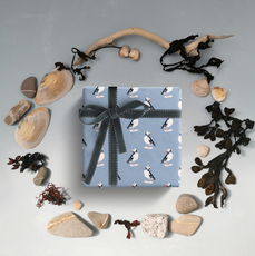 Blue Puffin Wrapping Paper mock up.png