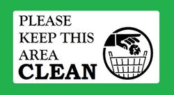 Keep Clean Sign