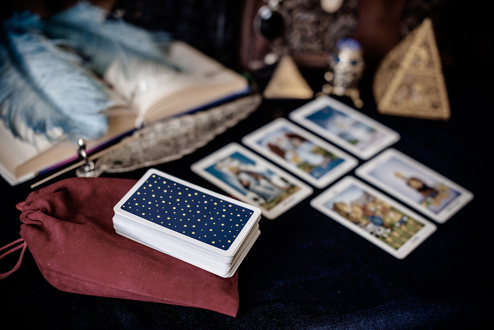 Mystical atmosphere, view of tarot card