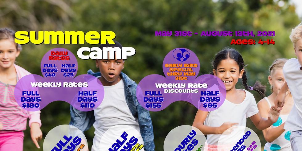 AUGUST DAILY RATES - 9AM-4PM Summer Camp