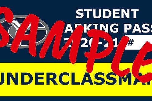 20-21 UNDERCLASSMAN Student Parking Pass