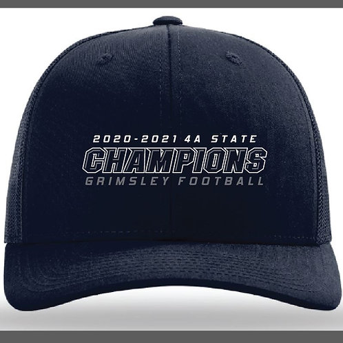2020-2021 4A State CHAMPIONS - Grimsley Football Hat