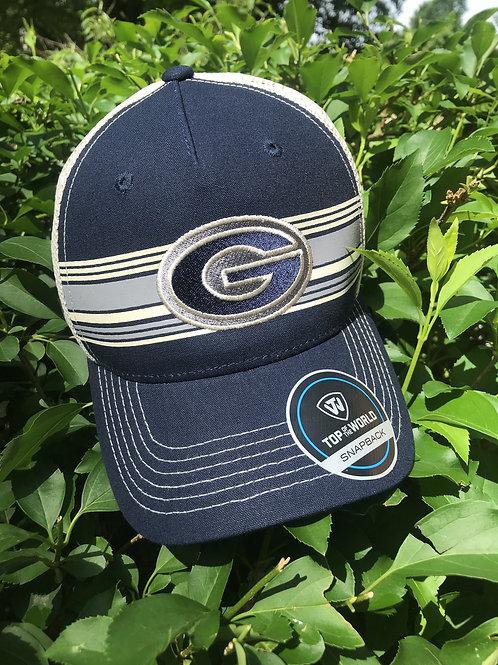 G striped ball cap