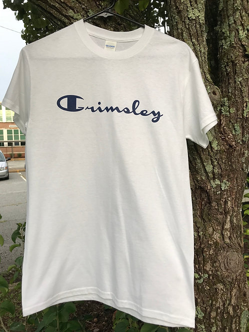 Be a champion White Grimsley T-Shirt