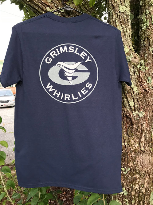 """Grimsley Whirlies """"G"""" and """"Whirlie"""" t-shirt"""