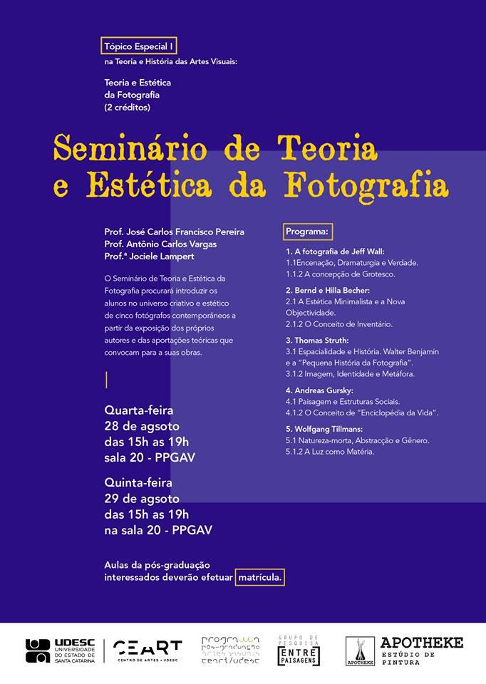 Seminário Estética da Fotografia
