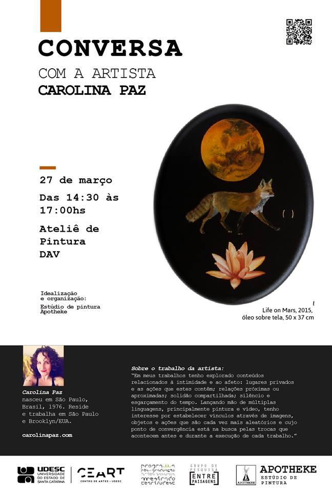 Conversa com a artista Carolina Paz