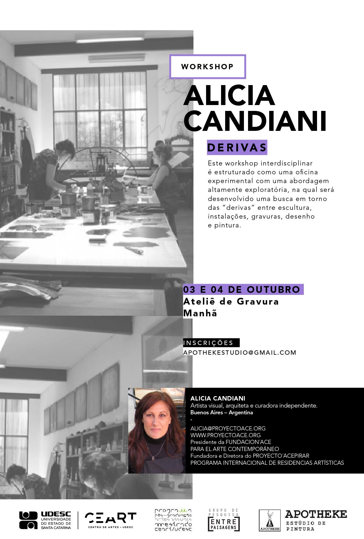 Workshop Derivas com Alicia Candiani