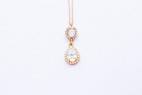 Μενταγιό Ροζ Χρυσό Κ14 Α.ΜΕ001570