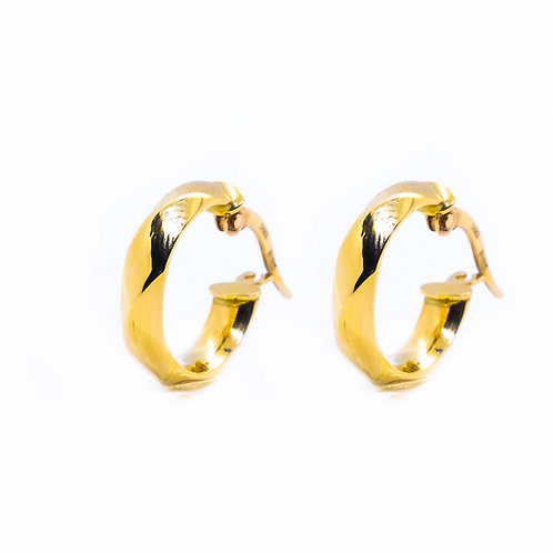 Χρυσά σκουλαρίκια Κ14 κρικάκια