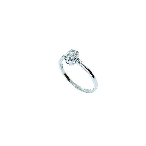 Δαχτυλίδι λευκόχρυσο Κ18
