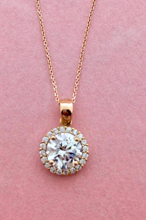 Pink Obsession White Brilliance round pendant