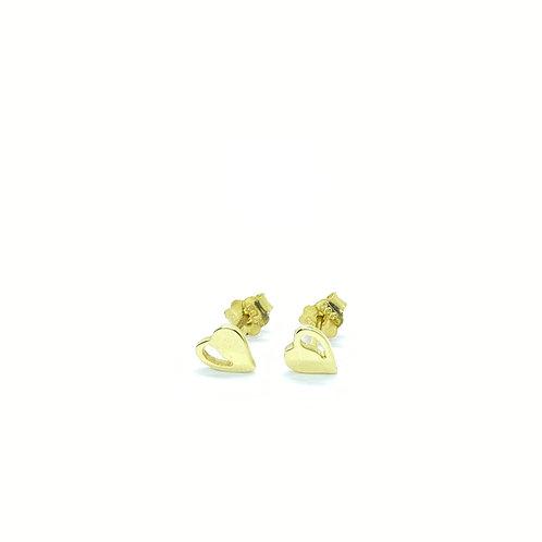 Χρυσά Σκουλαρίκια Καρδούλες