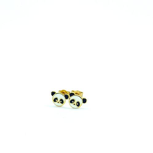 Χρυσά Σκουλαρίκια Panda