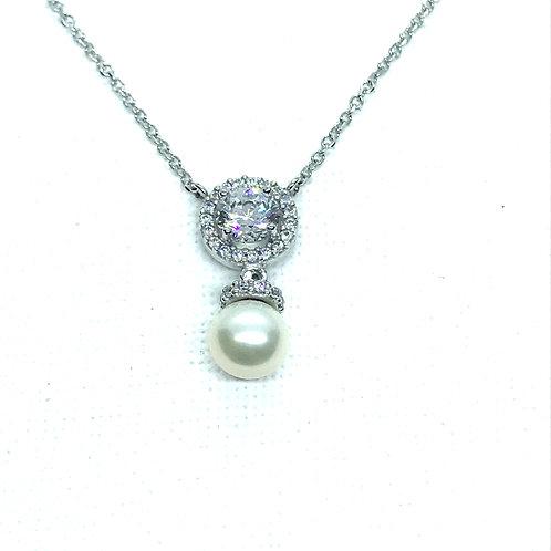 Μενταγιόν Λευκόχρυσο Κ14-585'