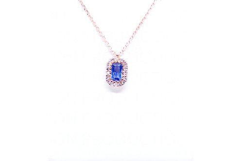 Μενταγιόν Ροζ χρυσό Κ14 Α.ΜΕ001566