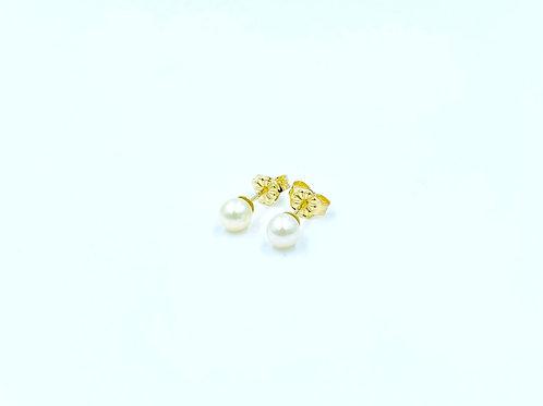 Xρυσά Σκουλαρίκια 14Κ με Μαργαριτάρια Π.ΣΚ001684