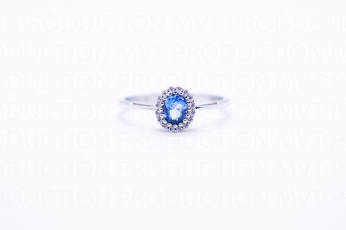 Δαχτυλίδι Λευκόχρυσο Κ14 Ροζέτα Οβάλ Α.ΔΑ001564