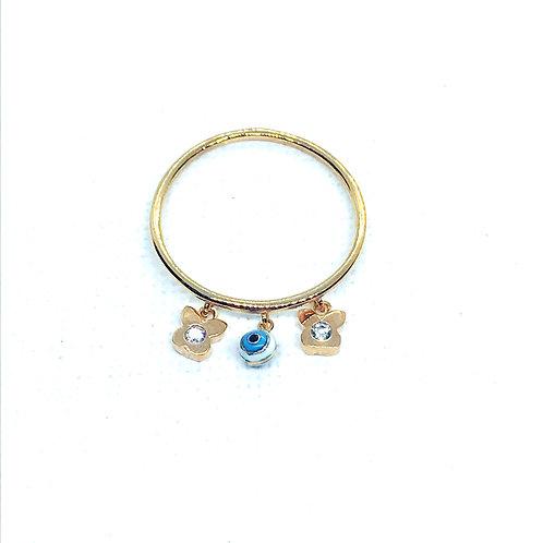 Δαχτυλίδι Ροζ Χρυσό Κ14-585'