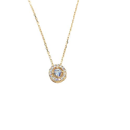 Μενταγιόν Ροζ Χρυσό Κ14-585'