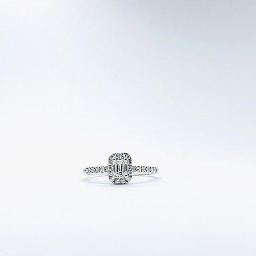 Δαχτυλίδι λευκόχρυσο Κ18- 750' Π.ΔΑ001233