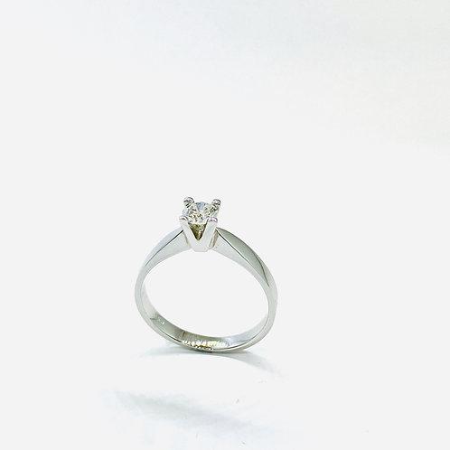 Δαχτυλίδι λευκόχρυσο Κ18- 750' Π. ΔΑ 00781