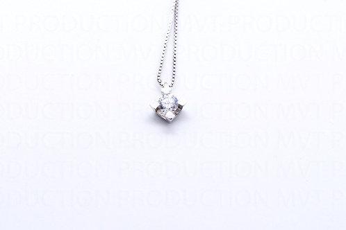 Λευκόχρυσο Μενταγιόν Μονόπετρο Κ14 Α.ΜΕ001571