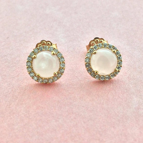 Pink Obsession Rose Quartz studs earring