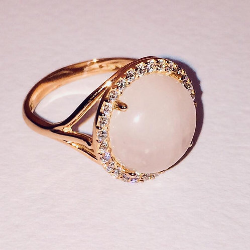 Pink Obsession Rose Quartz Ring