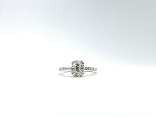 Δαχτυλίδι λευκόχρυσο Κ18- 750' Π.ΔΑ001115