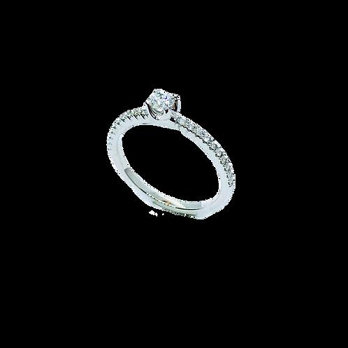 Δαχτυλίδι λευκόχρυσο Κ18- 750'
