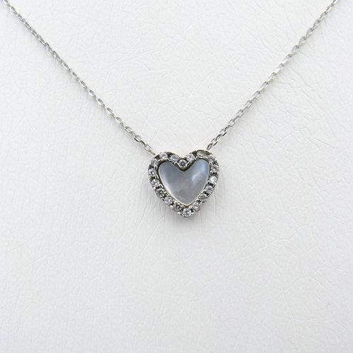 Λευκόχρυσο Μενταγιόν καρδιά 14 Κ . Π.ΜΕ001676