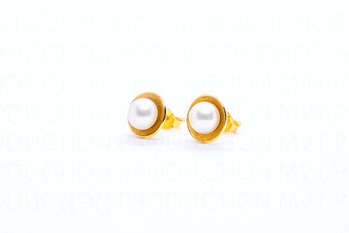 Χρυσά Σκουλαρίκια με Μαργαριτάρια Α.ΣΚ001553