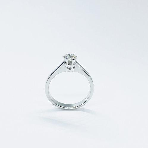 Δαχτυλίδι λευκόχρυσο Κ18- 750' Π.ΔΑ000752