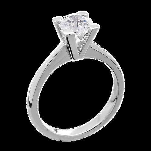 Χειροποιήτο λευκόχρυσο δακτυλίδι 18 Καρατίων