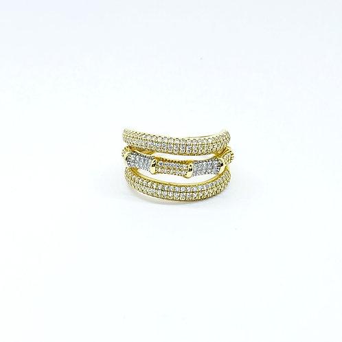 Χρυσό Δαχτυλίδι Κ14 Bamboo